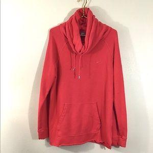 Nike Women's Funnel Neck Sweatshirt Red Size Large